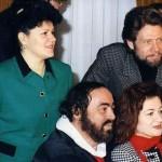 Con Luciana D'Intino, Samuel Ramey e Luciano Pavarotti